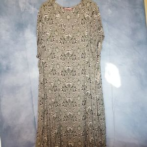 BOHO CHIC FULL LENGTH PRINT DRESS, Sz 2X